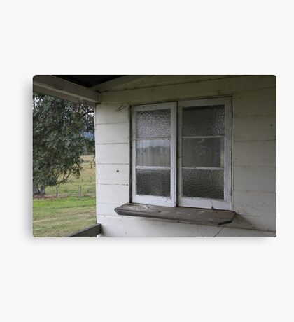The Old Cottage Windows Canvas Print