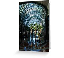 Reflecting on Palm Trees and Arches Greeting Card