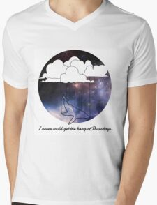 Hitchhiker's Guide Whale Mens V-Neck T-Shirt