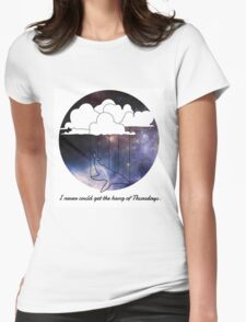 Hitchhiker's Guide Whale Womens Fitted T-Shirt