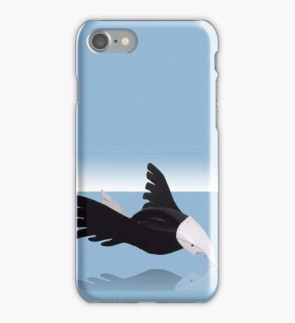 Osprey touching his reflection iPhone Case/Skin