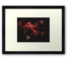 Orange Grunge Geometric Abstract  Framed Print