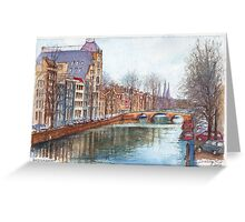 Amsterdam at Christmas time Greeting Card