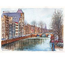 Amsterdam at Christmas time Photographic Print