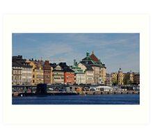 Gamlastan across the harbour- Stockholm Art Print