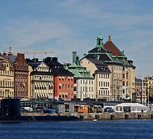 Gamlastan across the harbour- Stockholm by mypic