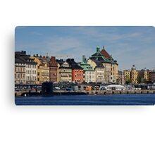 Gamlastan across the harbour- Stockholm Canvas Print