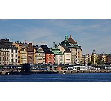 Gamlastan across the harbour- Stockholm Photographic Print