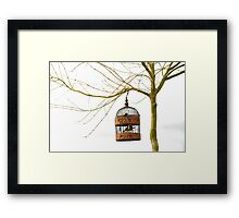 hanging loose Framed Print