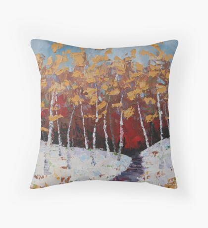 November Snows Throw Pillow