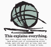 Funny crochet hooks ball of yarn jargon tee Kids Clothes