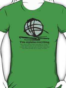 Funny crochet hooks ball of yarn jargon tee T-Shirt