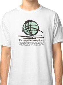 Funny crochet hooks ball of yarn jargon tee Classic T-Shirt
