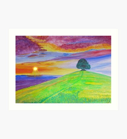 Sunset Of The Summer Sky Art Print