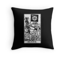 Death Tarot Card - Major Arcana - fortune telling - occult Throw Pillow