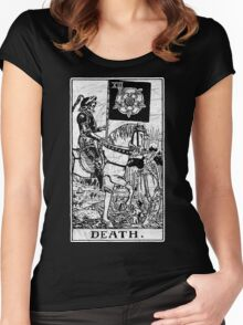 Death Tarot Card - Major Arcana - fortune telling - occult Women's Fitted Scoop T-Shirt