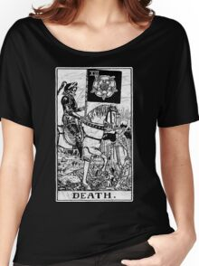 Death Tarot Card - Major Arcana - fortune telling - occult Women's Relaxed Fit T-Shirt