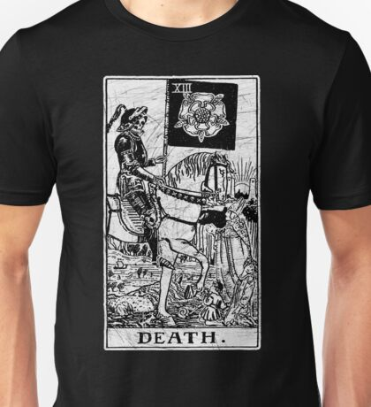 Death Tarot Card - Major Arcana - fortune telling - occult Unisex T-Shirt