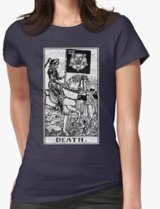 Death Tarot Card - Major Arcana - fortune telling - occult Womens Fitted T-Shirt