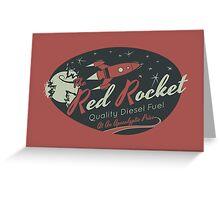 Red Rocket Greeting Card