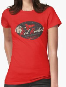 Red Rocket (Distressed) Womens Fitted T-Shirt
