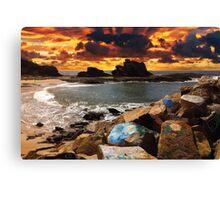 Sky on Fire - Nambucca Heads Pier Canvas Print