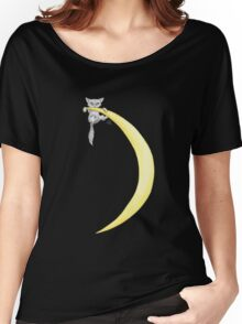 Moon Kitty Women's Relaxed Fit T-Shirt