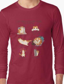 Cat Body Language Guide Long Sleeve T-Shirt