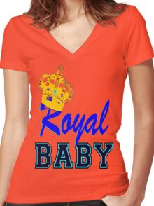 §♥Royal Crowned Baby Fantabulous Clothing & Stickers♥§ Women's Fitted V-Neck T-Shirt
