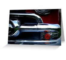 Classic Car in Red Greeting Card