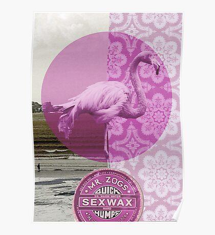 """Mrs Flamingo"" Poster"