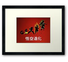 Kakarot Evolution Framed Print