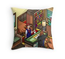 The Wind-Up Office Throw Pillow