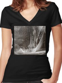 Once Upon a December -  Art + Products Design  Women's Fitted V-Neck T-Shirt
