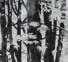 Specks of Light, mixed media on canvas Sticker