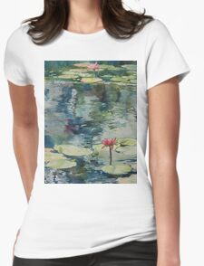 Nymph Echo, watercolor on paper Womens Fitted T-Shirt