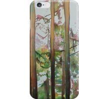 Stick Figures, watercolor on paper mounted on board iPhone Case/Skin
