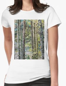 On either side of the river, watercolor on paper Womens Fitted T-Shirt