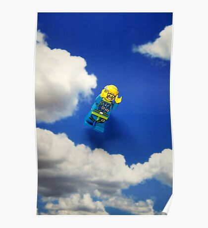 Extreme sports - Skydiving. Poster