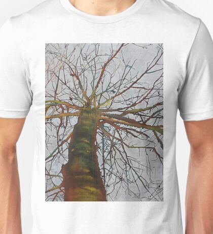 Knitting the Wind, mixed media on canvas Unisex T-Shirt