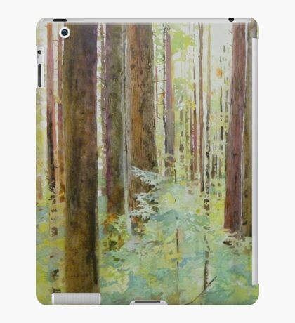 Seeing the Forest through the Trees, watercolor and mixed media on paper mounted on board, wax finish iPad Case/Skin