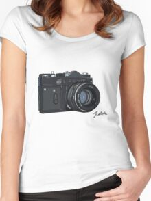 Classic Russian camera Women's Fitted Scoop T-Shirt