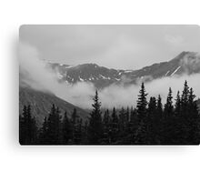 Rocky Mountains at the Continental Divide Canvas Print