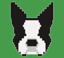 8-Bit Boston Terrier Kids Tee