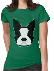 8-Bit Boston Terrier Womens Fitted T-Shirt