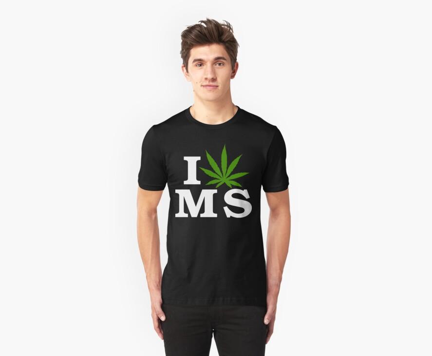 I Love Mississippi Marijuana Cannabis Weed T-Shirt by MarijuanaTshirt