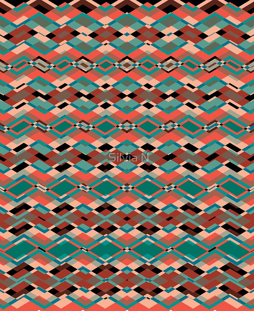 Cool Aztec Pattern by Silvia Neto