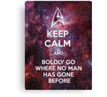 Keep Calm and Star Trek II Canvas Print