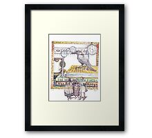 Reading all kind of books with Crow Framed Print