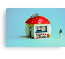 The Strawberry kiosk Canvas Print